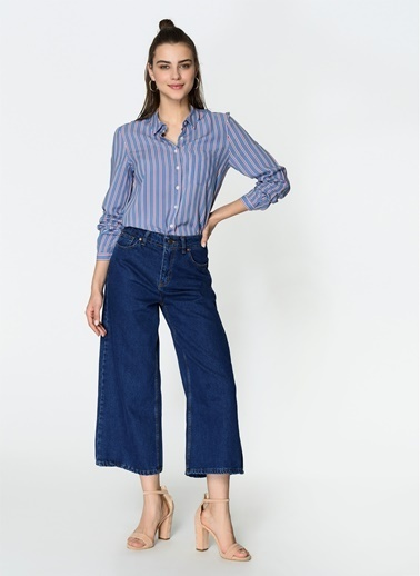 Loves You Culotte Jean Pantolon Mavi